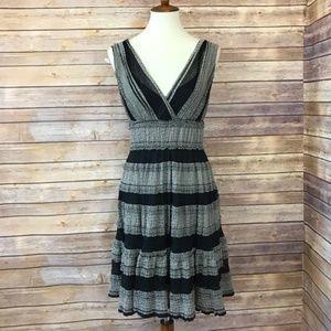 Max Studio Ruffled V-Neck Casual Mini Dress Size M